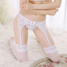 Sexy Women Lady Sheer Lace Floral High Waist Garter Belt Suspenders Underwear G-string Nightwear Suspenders Black/Pink/White