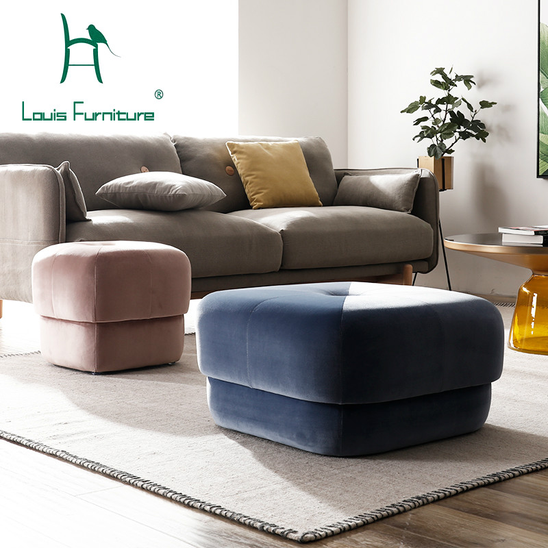 Louis Fashion Stools Ottomans Modern Simple Customized Nordic Pu Saddle Cloth For Shoes Creative Makeup Easy To Use Home Furniture