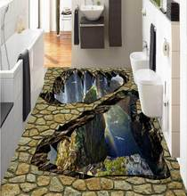 3d Flooring Valley Falls wallpaper for walls 3 d wallpapers for living room vinyl flooring Decorative paintings(China)