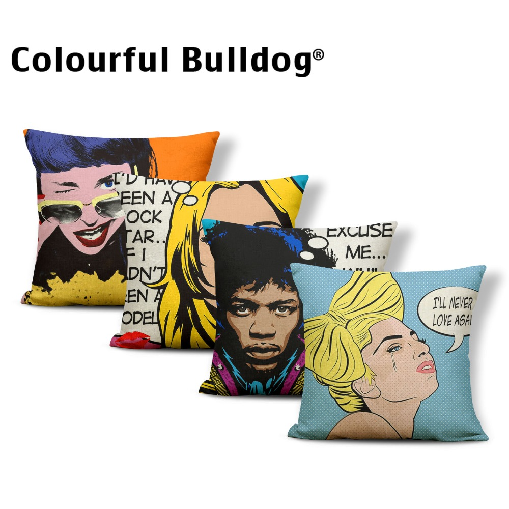 Character Cushion Cover High Heels Pillow Case Classic Couch For Sofa Pillow With Cover Phone 43X43Cm Polyester / Cotton Factory