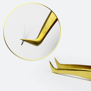 Image 5 - Nagaraku 속눈썹 연장 족집게 메이크업 10 pcs 러시아어 속눈썹 정확한 pincet 스테인레스 스틸 다채로운 3d 속눈썹 족집게