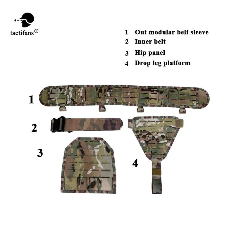 TACTIFANS Molle Padded Modular Belt Sleeve Tactical Inner Belt Drop Leg Platform Panel, Hip Panel Laser Cutting PALS Combo-in Waist Support from Sports & Entertainment    2