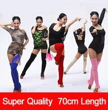 "Professional 27"" Length Soft Cashmere Ballet Dance Leg Warmers With Heel Holes Knited Warmed Latin Dance Thermal Legguard Women"