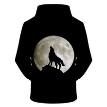 Black Hoodie 3D Hoodies Men Wolf Sweatshirt Harajuku Hoody Streatwear Tracksuit Brand Coat Pullover Moon Drop Ship ZOOTOPBEAR(China)