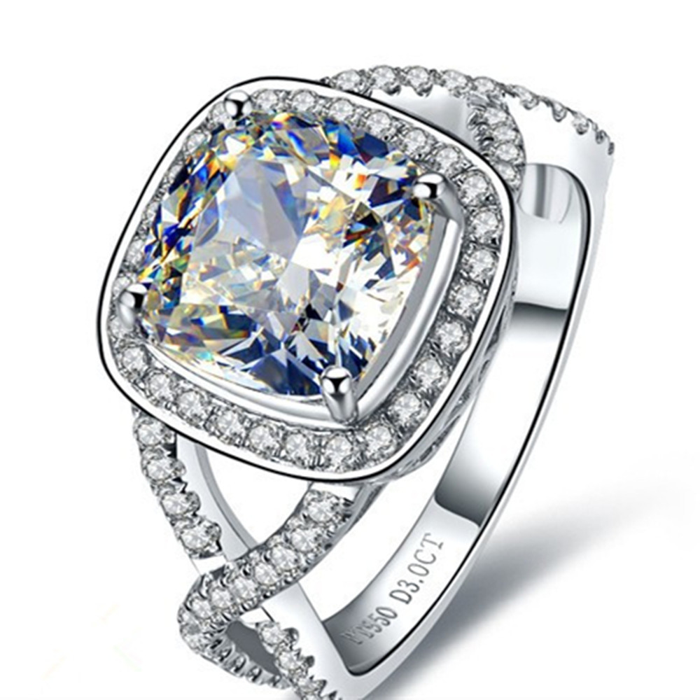 Fine Jewelry Diamond Responsible Certified 2ct Art Deco Princess Diamond Engagement Ring Stamped 14k White Gold