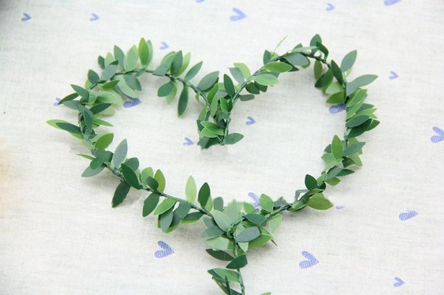 15m fabric artificial rattan cane fake vines with leaves diy flower