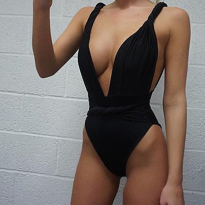 Curly 2016 New Women One Piece Swimsuit Summer Women Swimsuit One Piece Sexy Swimwear Women Black Monokini Swimsuit Push Up Hot 4