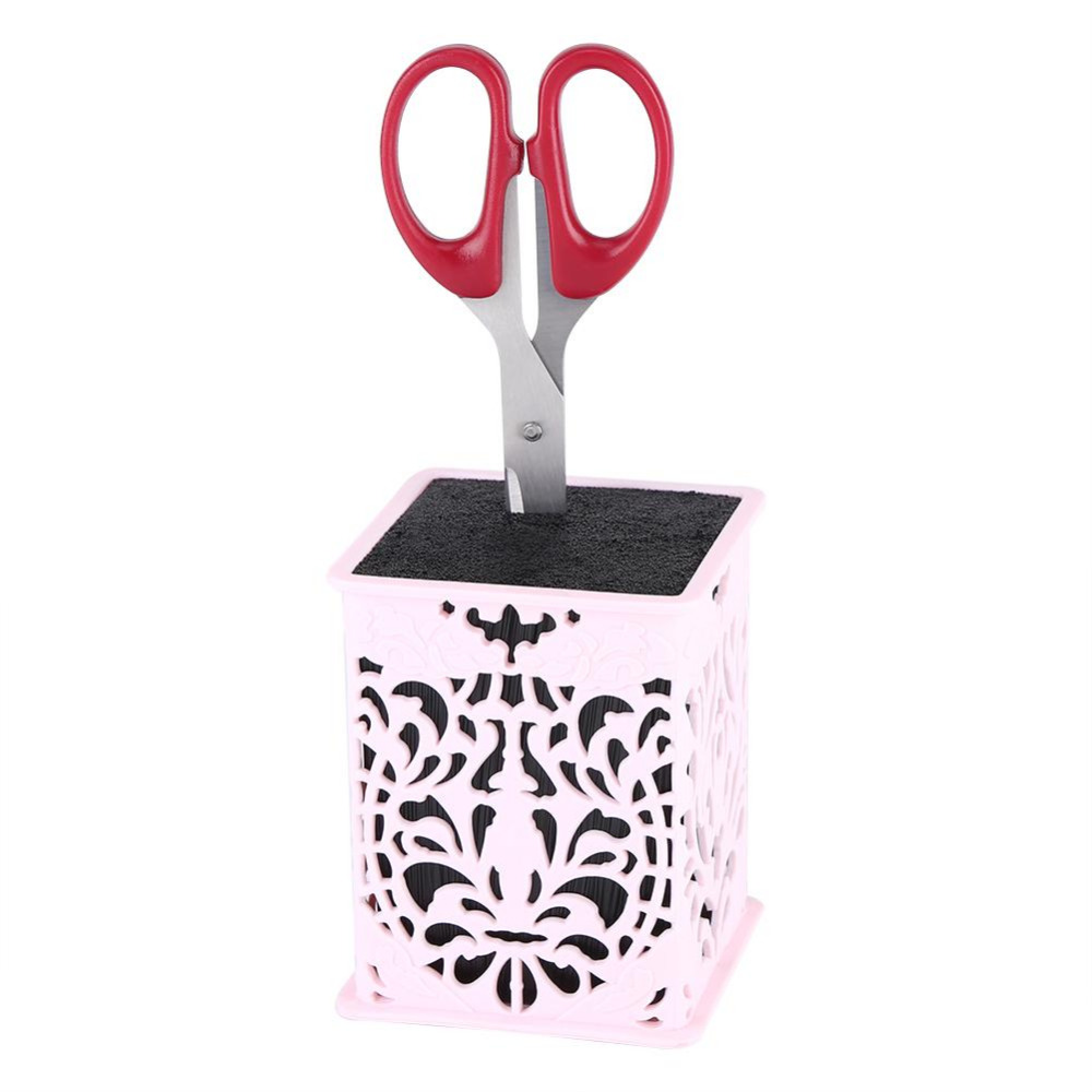 Professional Hair Comb Scissors Case Holder Rack Combs Clips Storage Case Desk Scissor Socket Storage Box