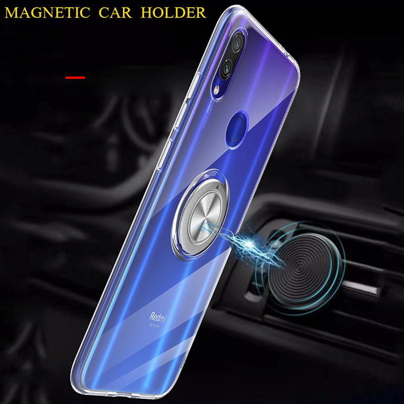 Image 4 - 360 Metal Finger Ring Magnet Case For Xiaomi 8 9 mi8lite mi9lite mi8discovery Clear Soft Silicon Cover For Xiaomi Redmi Note 7-in Fitted Cases from Cellphones & Telecommunications