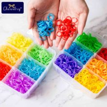 3600pc Rainbow Rubber Loom Bands DIY Elastic Toy Bracelet Weaving Baby Girl Braids Hair Accessories Children Christmas 2019 Gift