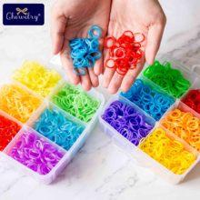 3600pc Rainbow Rubber Loom Bands DIY Elastic Toy Bracelet Weaving Baby Girl Braids Hair Accessories Children Christmas 2019 Gift