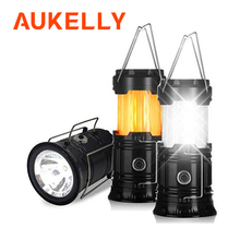 3-IN-1 Led Flame lantern camping light Collapsible Outdoor Portable lighting Waterproof Hanging Tent Flashlight Power by 3* AA