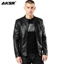 AKSR 2019 Fashion Autumn Mens PU Leather Jacket Men Faux Leather Biker Jacket Leather Men Motorcycle Jacket Jaqueta De Couro недорого