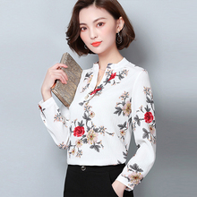 Women Chiffon Blouse Shirt 2019