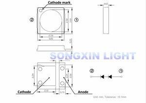 Image 4 - 1000pcs Lextar LED Backlight High Power LED 1.8W 3030 6V Cool white 150 187LM PT30W45 V1 TV Application 3030 smd led diode