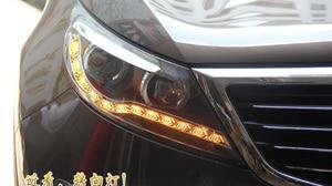 Image 4 - KlA SportageR faro delantero, 2011 ~ 2014, luz diurna SportageR, accesorios para coche, sportage,sportage R, envío gratis