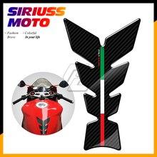 цена на 3D Carbon-look Motorcycle Tank Pad Protector Italy Racing Tankpad Case for Aprilia Ducati Panigale Honda Suzuki Yamaha Benelli