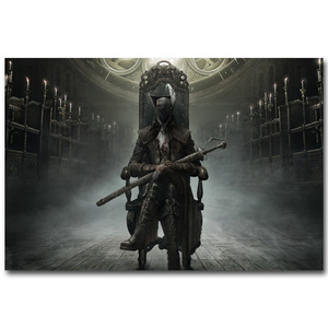 Bloodbrone Art Silk Fabric Poster Huge Print 13x20 32x48inch Hot Game Picture for Living Room Wall Decoration Gift 032