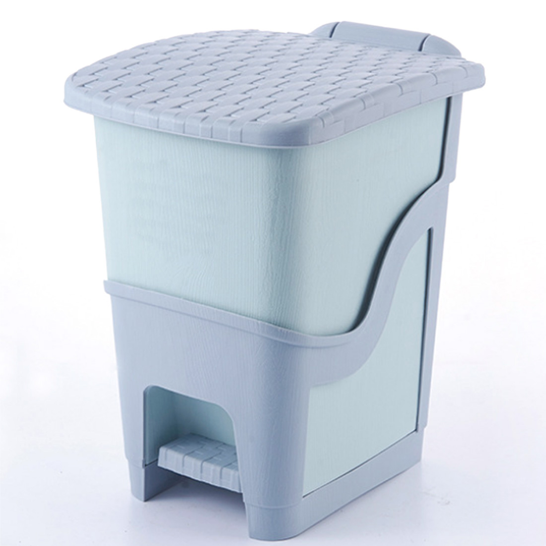 8l Foot Pedal Type Waste Bin Trash Can For Home Office Wastebasket