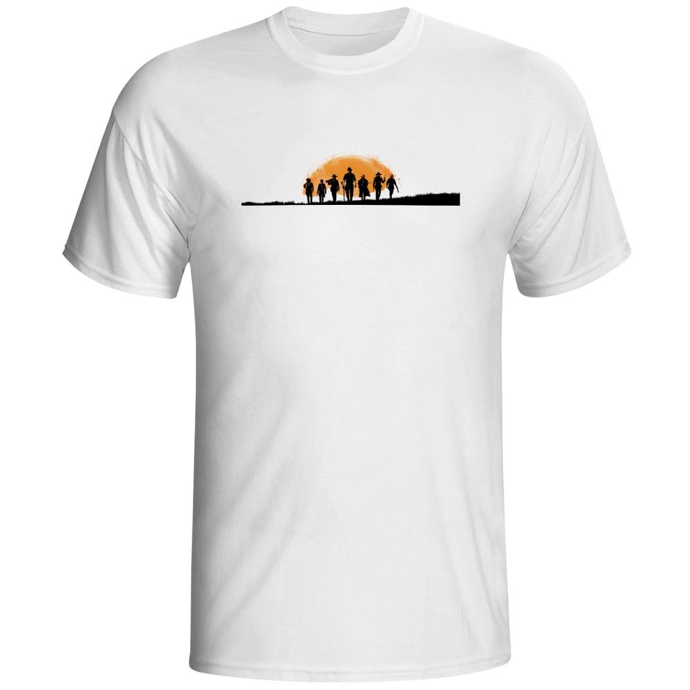 Cowboys Camiseta Videojuego de la Película del Estilo Fresco de La Manera T Shir