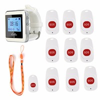 Hospital Nurse Call System Wireless Pagers Call Bell Emergency With SOS Button Transmitter For Patient The Elderly F4466B