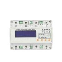 GHDS300E U/I/P/F/PF/F/S RS485 Kommunikation Drei Phase Führungsschiene elektrische Energiezähler
