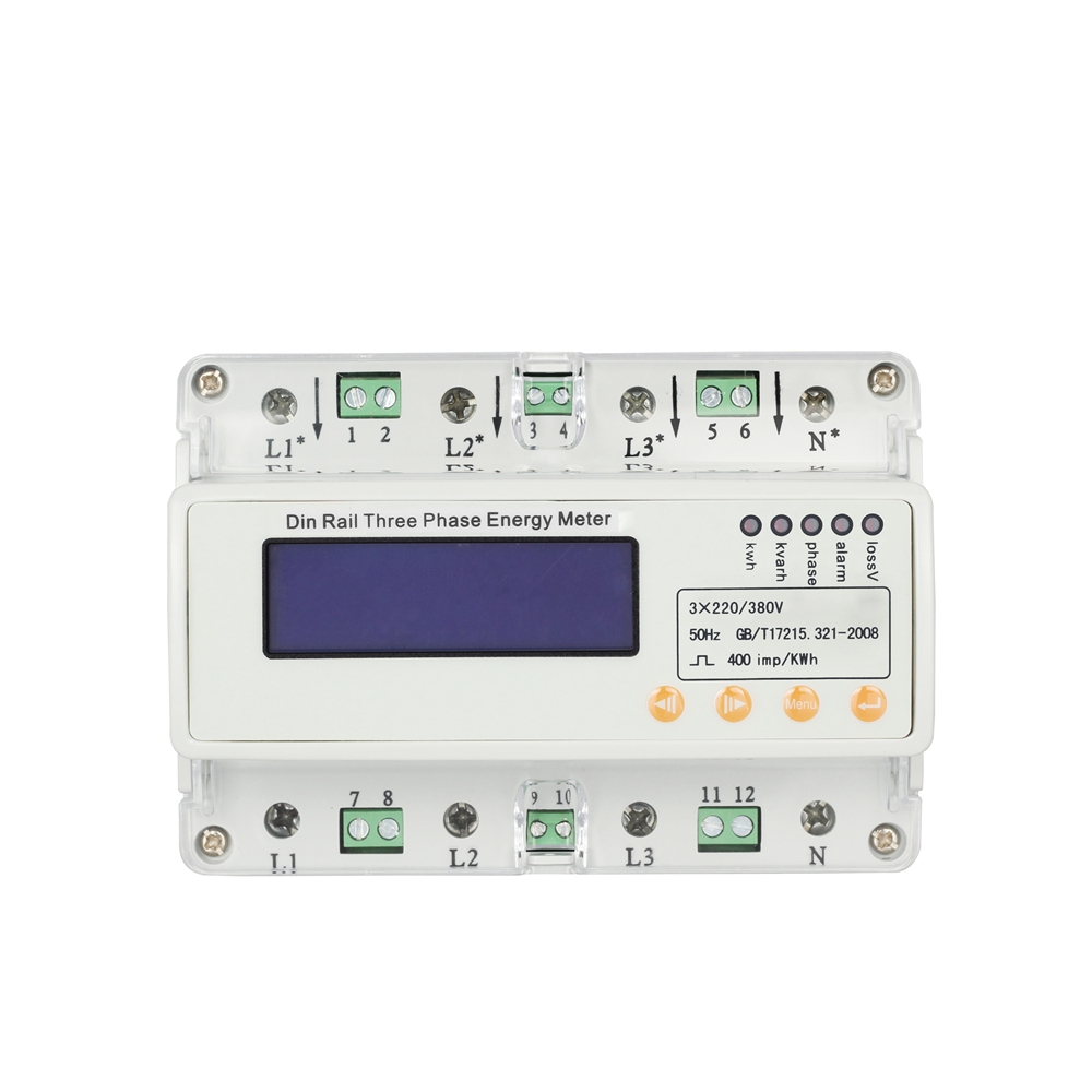 GHDS300E U/I/P/F/PF/Q/S RS485 Communication Three Phase Guide Rail Electric Energy Meter
