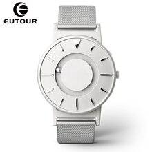 Eutour Marca de Moda de lujo relojes de Los Hombres de Deporte creativo Magnética de Acero Inoxidable Correa de reloj de cuarzo militar Reloj de Pulsera