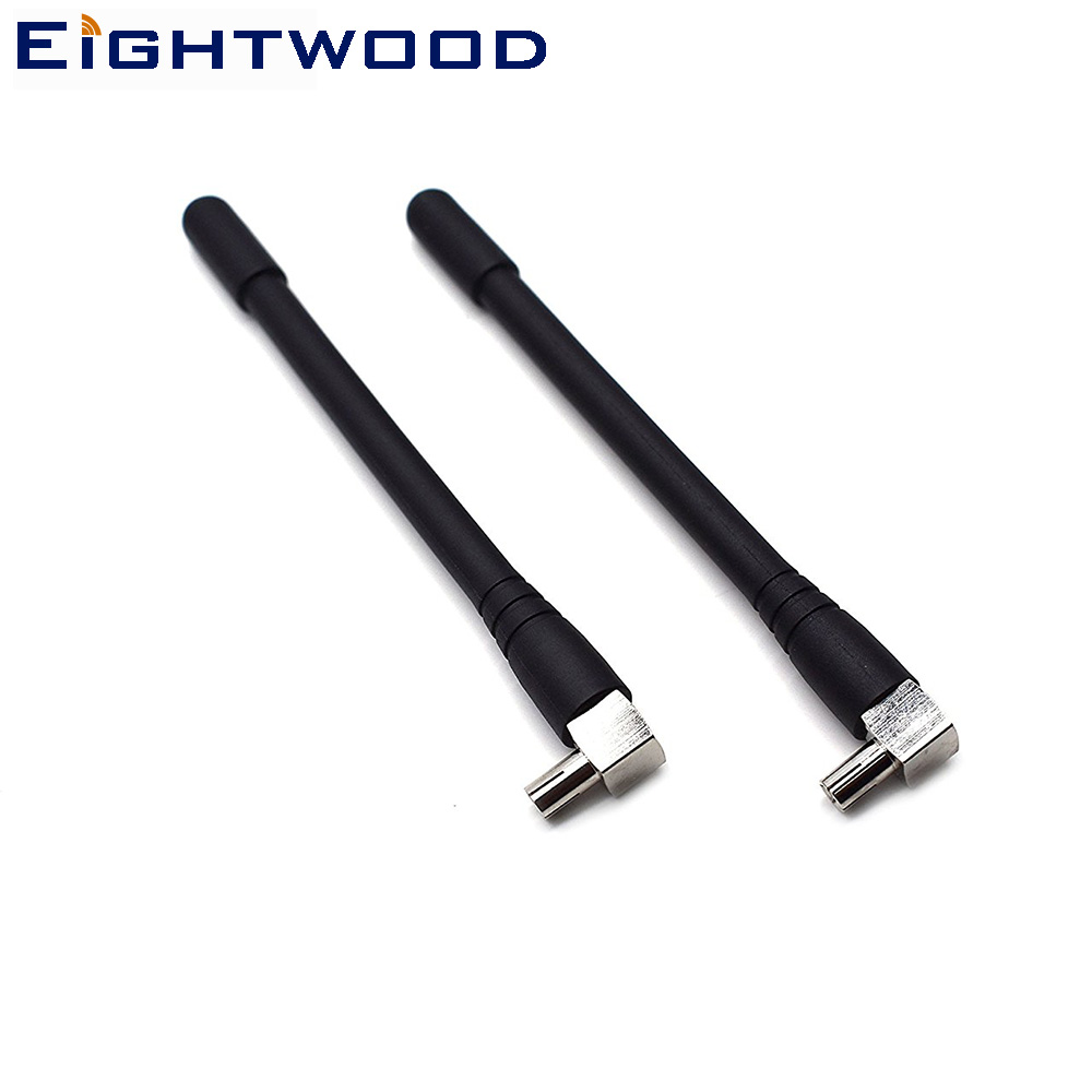 Eightwood Mini TS9 antena para Verizon Jetpack 4g lte Mobile Hotspot Netgear red Mini Router TS9 conector conjunto de 2