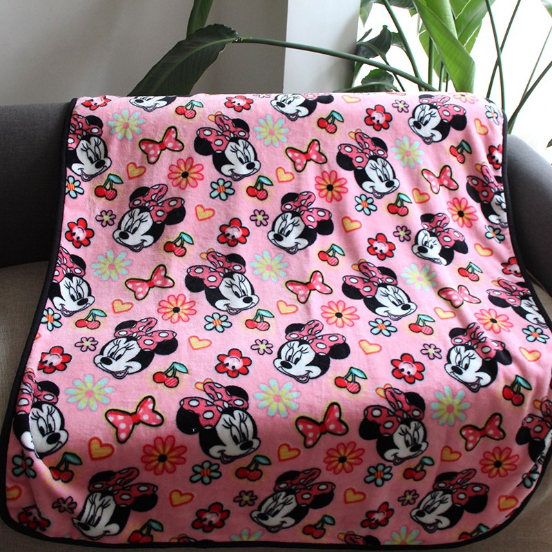 Disney Super Soft Dirty Pink Lovely Minnie Mouse Blanket Throw For Travel Baby Girls On Crib Toddler Sleeping Covers 100x130cm