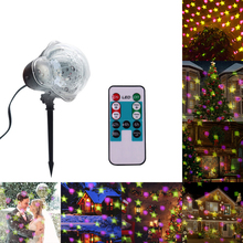 New Snowflake Projector Outdoor Waterproof LED Laser Lamp Night Light  for Christmas Festival Supplies Decoration Lamp недорого