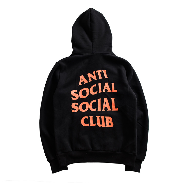 64b9efae346e ANTI SOCIAL SOCIAL CLUB Hoodie Women Men 1 1 High Quality Hip Hop Printed  Paranoid Undefeated Hoodies ASSC Sweatshirt Pullover-in Hoodies    Sweatshirts from ...