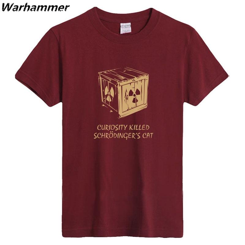 La Curiosite A Tue Le Chat De Schrodinger T Shirt Hommes Tbbt Fans