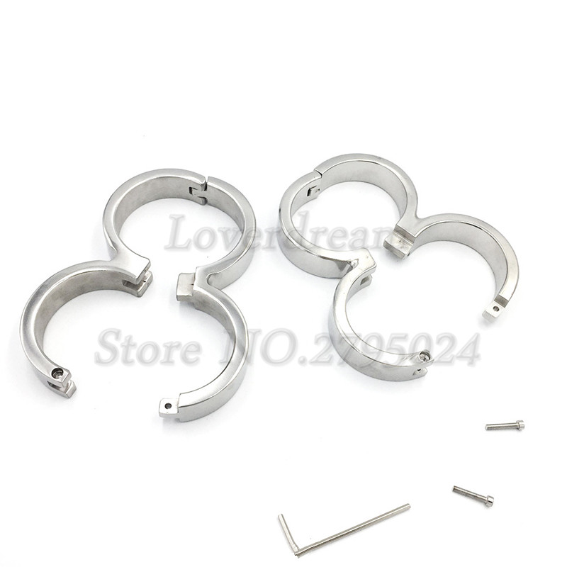 Lockable Stainless Steel Connect Handcuffs Manacle Wrist Cuffs Restraints Fetish SLave Adult Games Sex Toys for CouplesLockable Stainless Steel Connect Handcuffs Manacle Wrist Cuffs Restraints Fetish SLave Adult Games Sex Toys for Couples