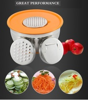 Kitchen Mixing Bowl With Graters Watermelon Slicer Carrot Julienne Slicer Potato Peeler New Cozinha Gadgets 3 Blades