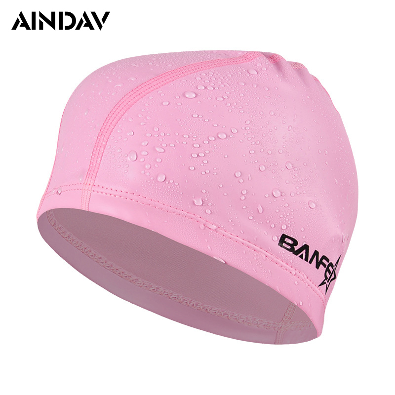 2017 High Stretch Women And Men Swimming Caps Pure Color Pu Swimming Hat Pool Wear Protect Ears