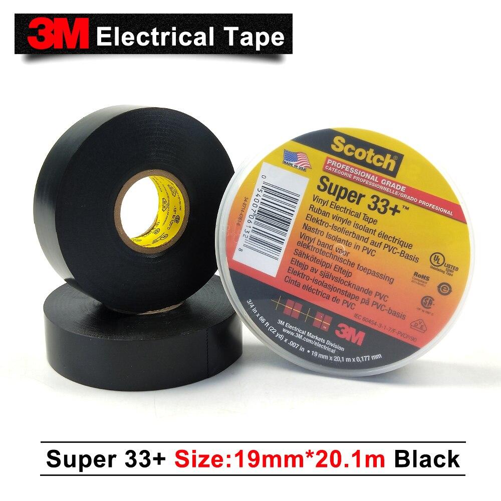 Original 3M Scotch Super 33+ PVC Electrical Insulation Vinyl Adhesive Tape Клейкая лента