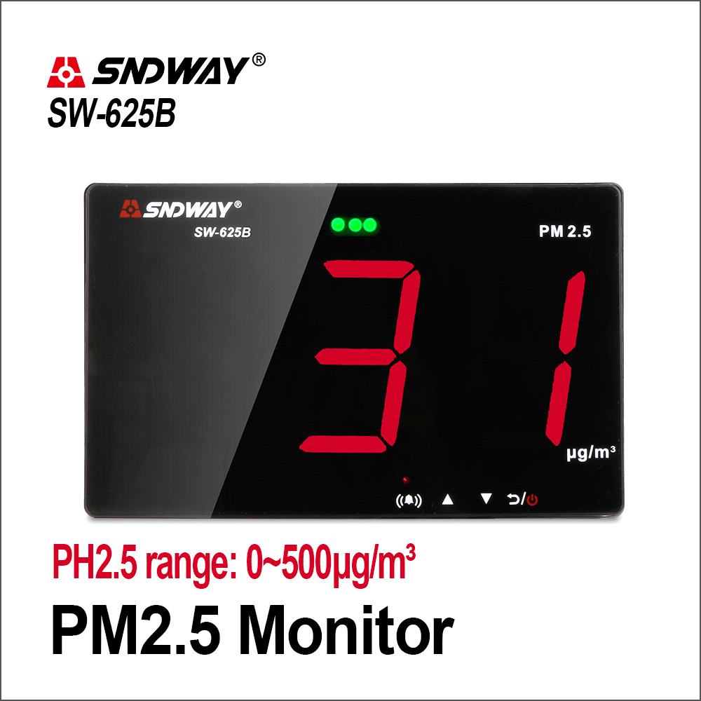 SNDWAY Laser PM2.5 Detector Wall Mounted Air Quality Monitor/Gas Monitor/Gas Analyzer/Diagnostic Tool SW-625BSNDWAY Laser PM2.5 Detector Wall Mounted Air Quality Monitor/Gas Monitor/Gas Analyzer/Diagnostic Tool SW-625B
