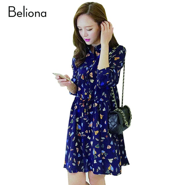Long-sleeved Chiffon Printing Maternity Dresses for Pregnant Women Charming Slim Maternity Dress Loose Casual Pregnancy Clothes
