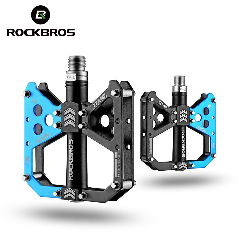 ROCKBROS Aluminium Alloy Bicycle Pedal Anti-slip Ultralight Mountain Road Bike Pedals Cycling Sealed Bearing Pedal Bicycle Parts rockbros mountain bike pedals double bearing aluminum alloy pedals