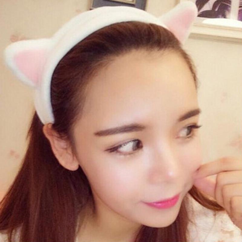 2Pcs Makeup Turban Hair Band Cute Ear Shape Girl Hair Accessories For Women Girls Headbands Hair Bands