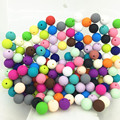 15MM round Loose Silicone Beads for Teething Necklace silicone round beads for baby teether BPA safe DIY loose beads 20 COLors