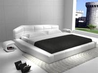 2017 New Contemporary Modern Leather Sleeping Bed Simple White Plaid King Size Bedroom Furniture Made In