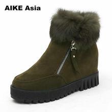 Plus Size 35-42 New Fashion Women Ankle Boots Winter Sexy High Heels Zipper Platform Autumn Botas Mujer Booties Feminina H5569