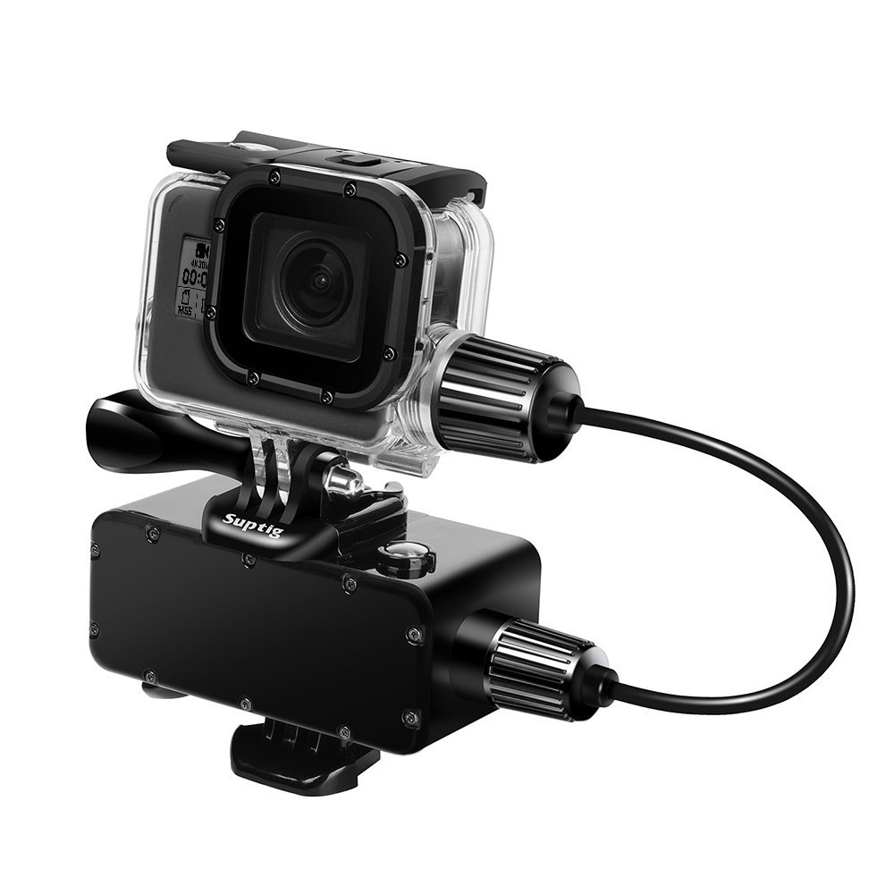 For Go Pro 5 6 Underwater Charging Power Bank+50m Waterproof Housing Case Box for GoPro HERO 6 HERO 5 Black Camera Accessories jinserta black plastic lens cap cover for gopro hero 6 black edition camera go pro 6 5 accessories protector case