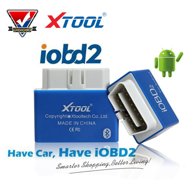 10pcs/lot 100% Original XTOOL iOBD2 BT For Android OBDII/EOBDII Code Reader communicate with Mobile phone by Bluetooth