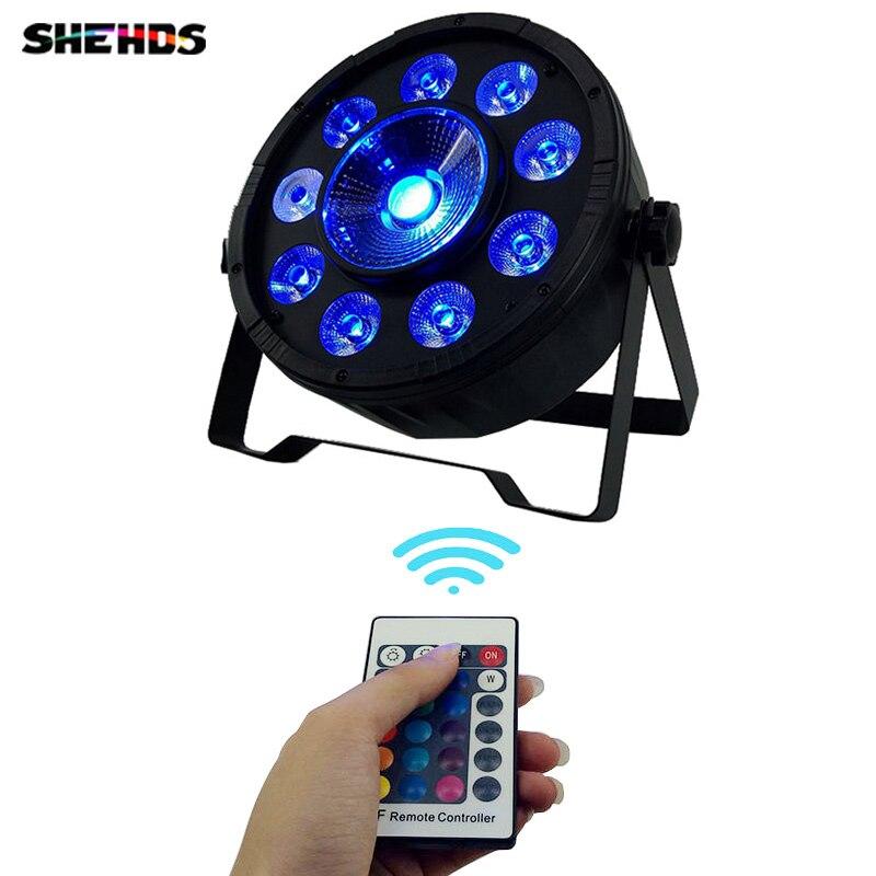 2pcs LED Fat Par 9X10W 1X30W Led Lamp Wireless Remote Control Led Par Light 8
