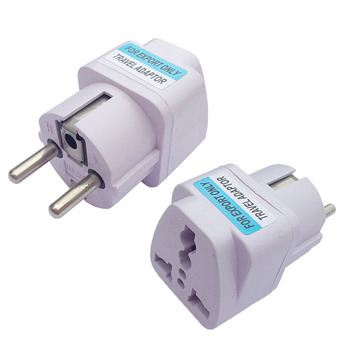 High Quality Convenient AC Power Travel Safe AU US UK To EU Europe DE Plug Adapter Converter With Track Number Factory price Replacement Parts & Accessories