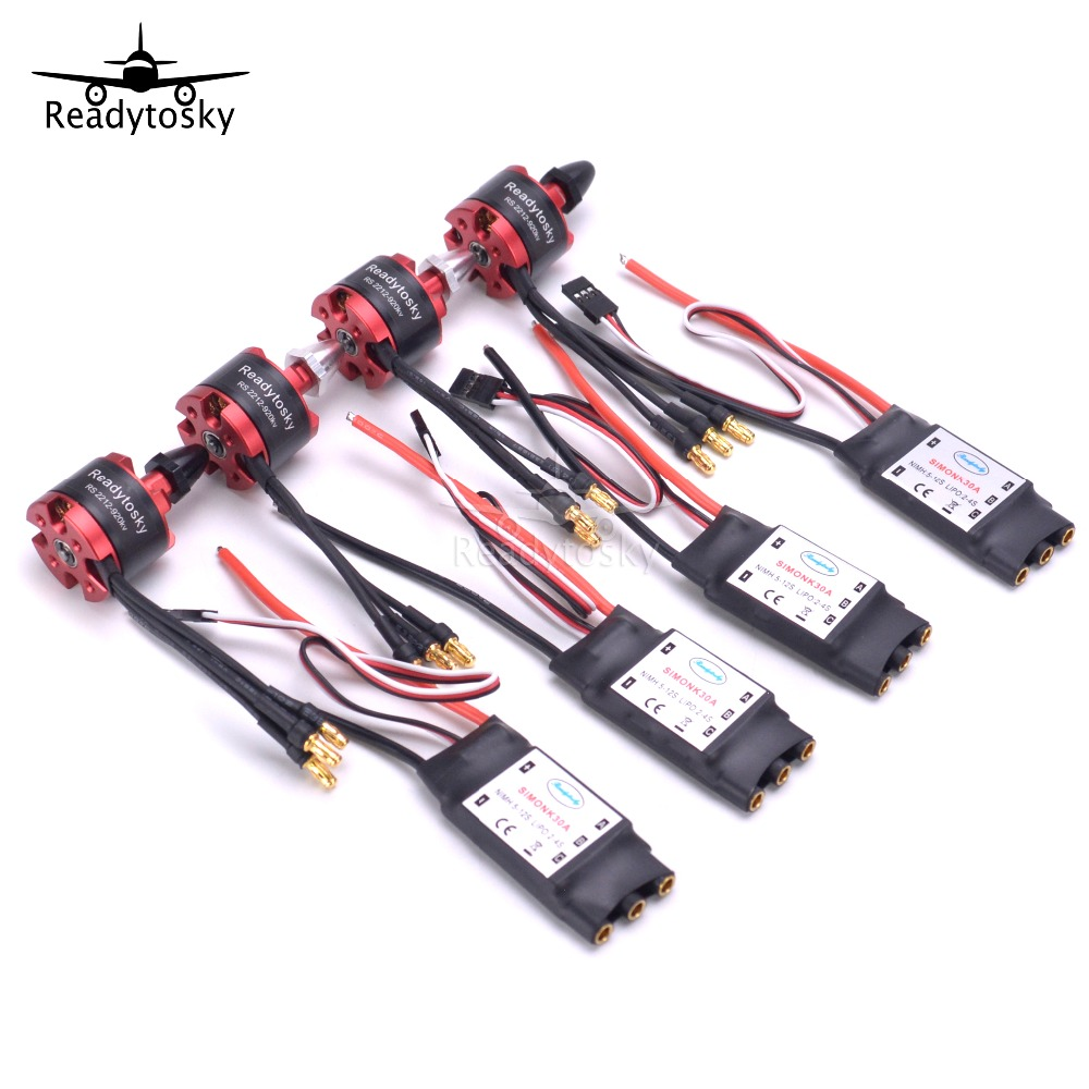 4X  2212 920KV CW CCW  Brushless Motor + 4 X 30A Simonk ESC with 3.5mm Connector for F330 F450 S500 F550 Multicopter4X  2212 920KV CW CCW  Brushless Motor + 4 X 30A Simonk ESC with 3.5mm Connector for F330 F450 S500 F550 Multicopter