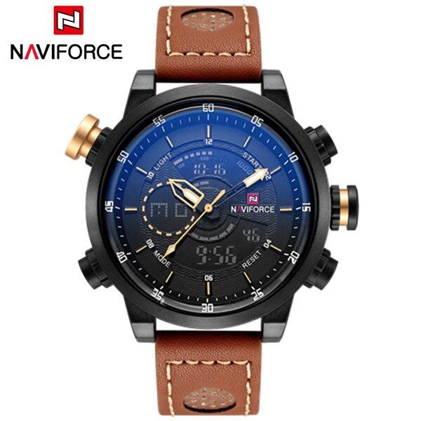 2018 De Luxe Marque NAVIFORCE Hommes Montre Sport Militaire Homme Horloge Hommes Quartz-montre Affichage de la Date Montre-Bracelet Étanche Montre Homme